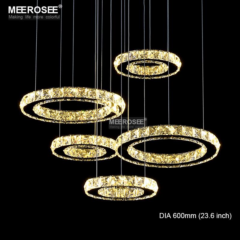 LED Chandelier Crystal Diamond Ring LED Lamp Circle
