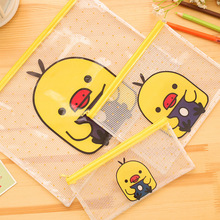 Cute Yellow duck A4 File Bag Document Bag File Folder Stationery Filing Production School Office Supply Children's pencil case(China (Mainland))