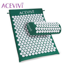 ACEVIVI Massager cushion Acupressure Mat Relieve Stress Pain Acupuncture Spike Yoga Mat with Pillow Drop shipping 31