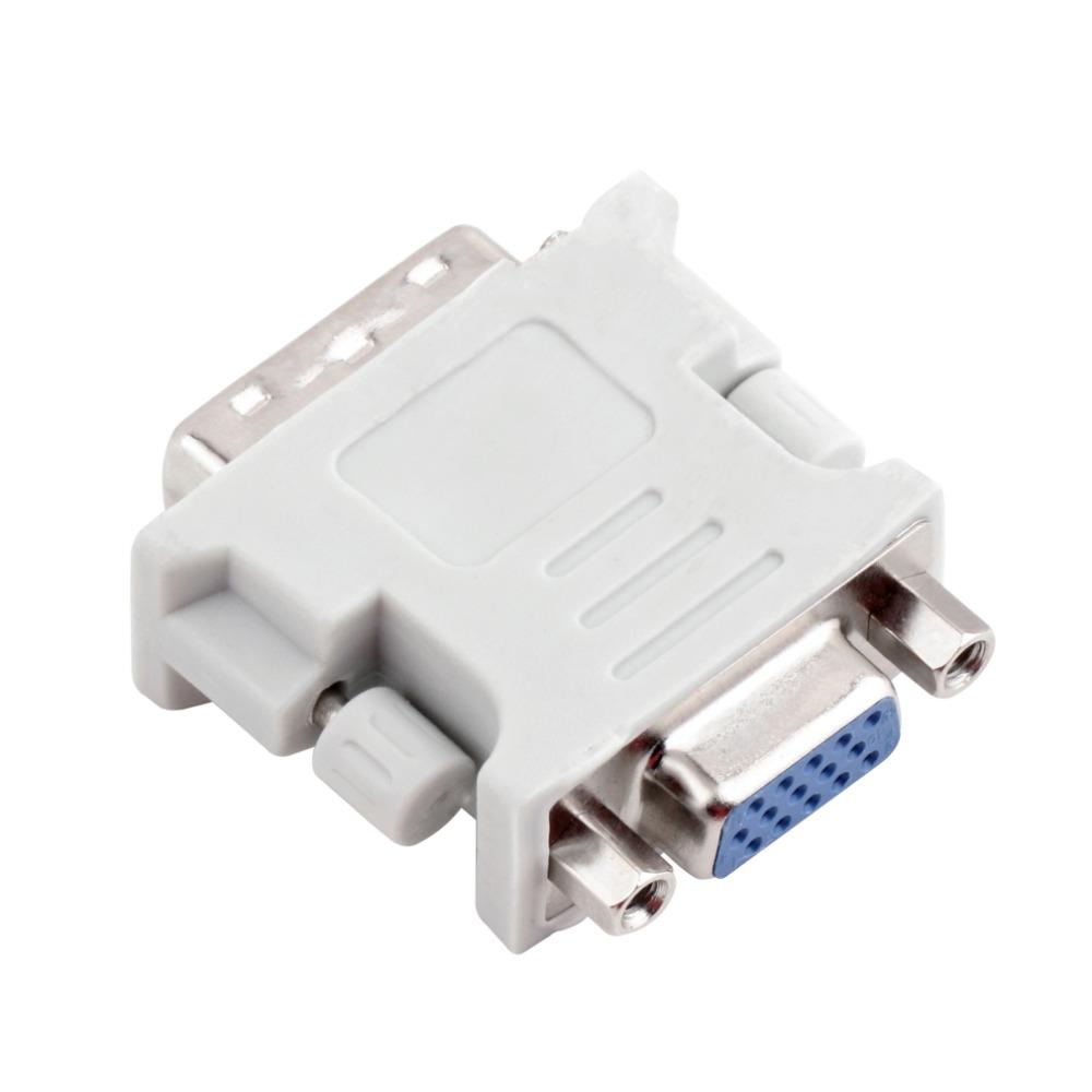 DVI DVI-I Male 24+5 Pin to VGA Female Video Converter Adapter Plug for DVD HDTV<br><br>Aliexpress
