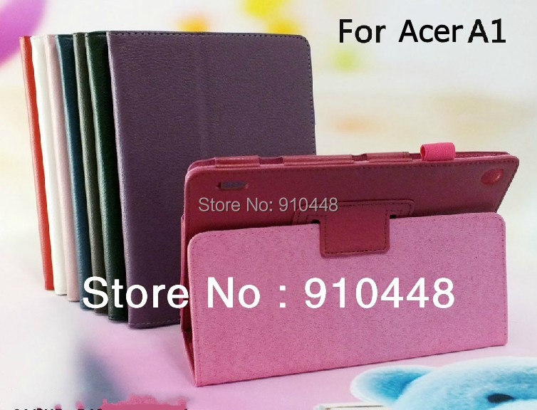 Free shipping  high quality  Lychee pattern Stand PU Leather Case flip Cover skin For Acer Iconia Tab A1-810 7.9 tablet<br><br>Aliexpress