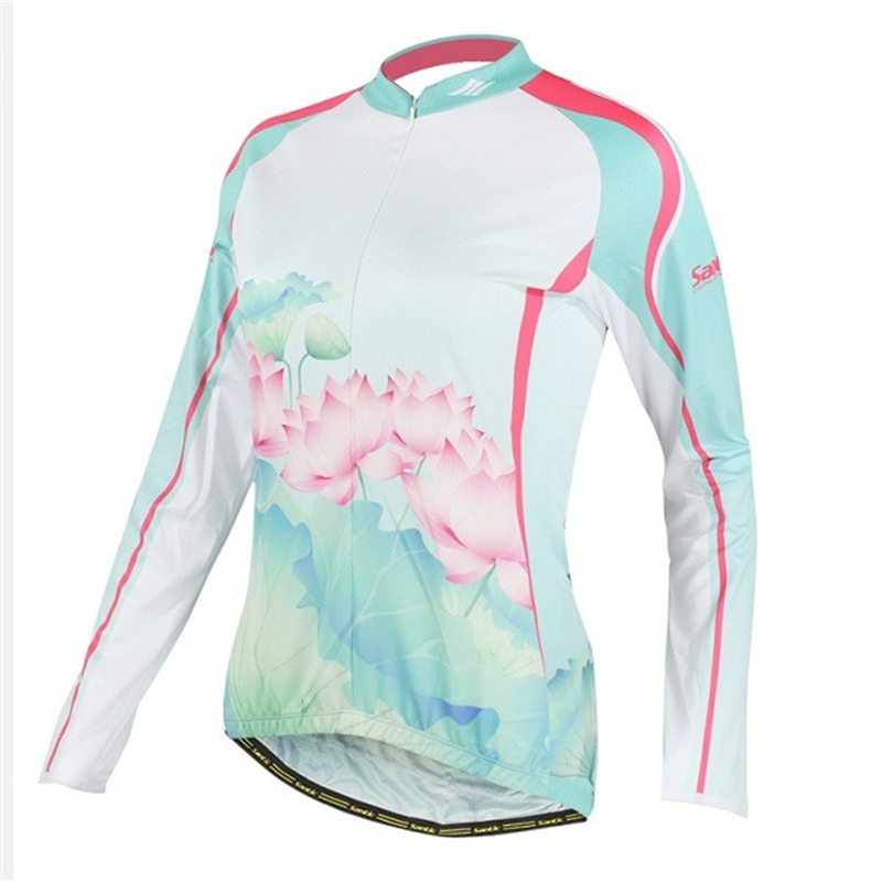 New Women's Cycling Jacket Outdoor Sport Bike Bicycle Jersey Long Sleeve M-XL(China (Mainland))