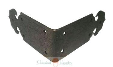 5cm Brass Corners Brackets Angle Plates for Chinese Furniture Hardware Cabinet Jewelry Box Closet 4pcs(China (Mainland))