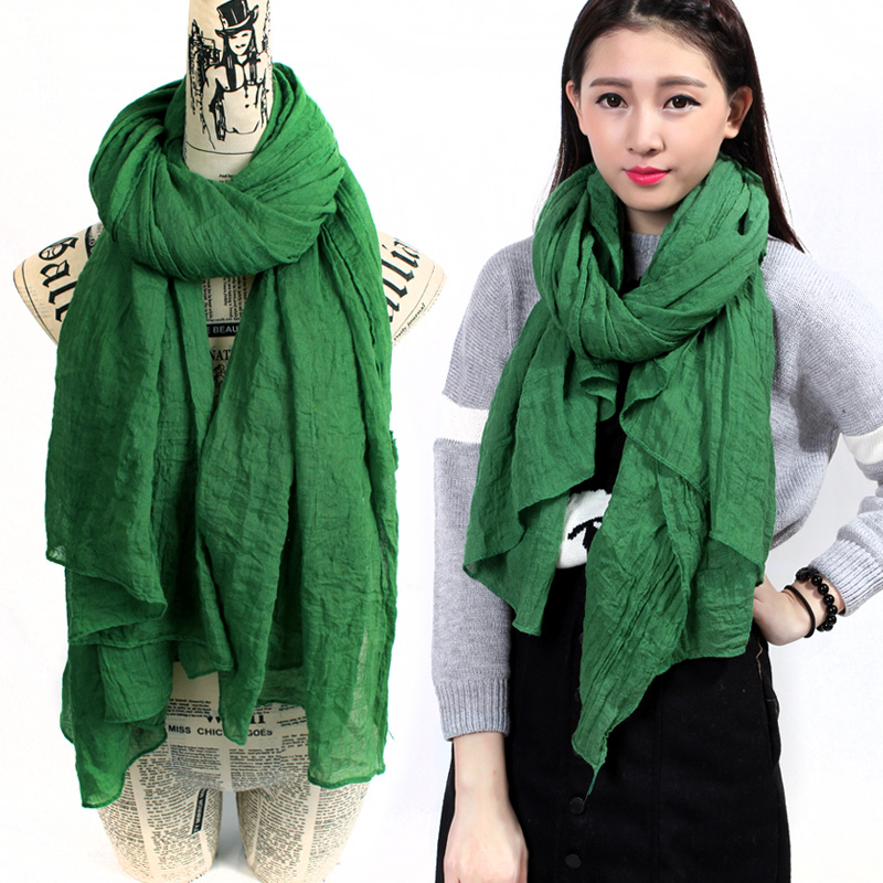 2015 autumn and winter scarf women solid color green scarf for women ladies desigual brand viscose scarf female echarpe HOT SALE(China (Mainland))