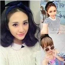 [6906] South Korea rabbit ear hair band The hair band velvet bow The exercises of yoga were head with 33