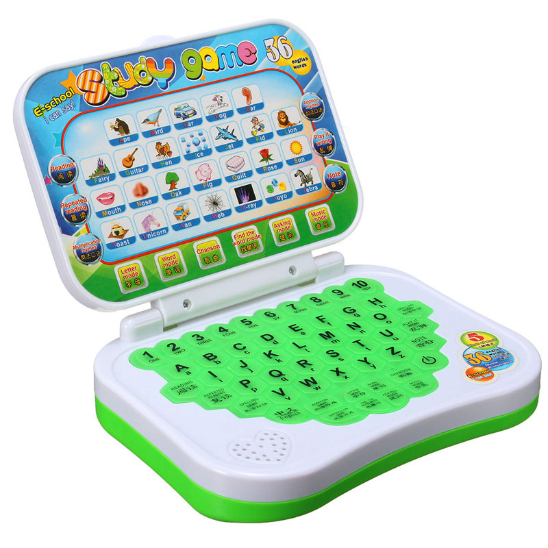 Toy Computer Laptop Tablet Baby Children Educational Learning Machine Toys Electronic Notebook Kids Study Game Pad Music Phone(China (Mainland))