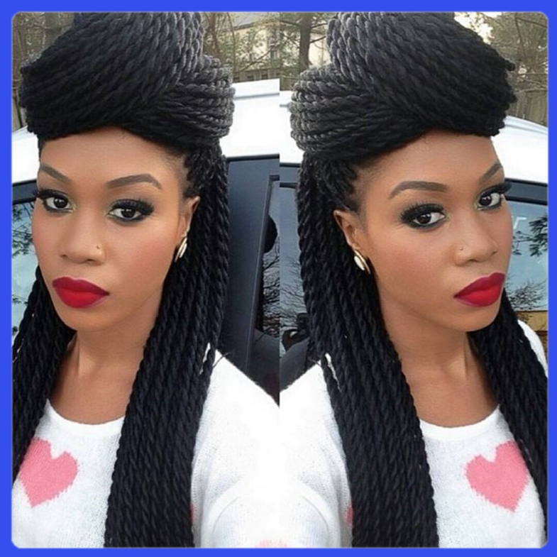 Shiny and sliky straight braid front lace hair no shedding and no tangles with 1b# wig,100%fiber wig for african women<br><br>Aliexpress