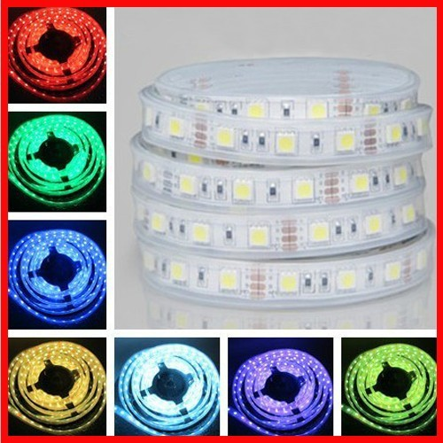 Free shipping new IP68 5M/lot RGB 300 Leds 60LED/M glue Waterproof 5050 SMD LED Strip led lamp,LED Lights,flexible strip led(China (Mainland))