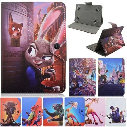 New Cartoon Zootopia Animal PU Leather Case Cover for Verizon Ellipsis HP Stream IRulu 7 Inch RCA Tablet(China (Mainland))