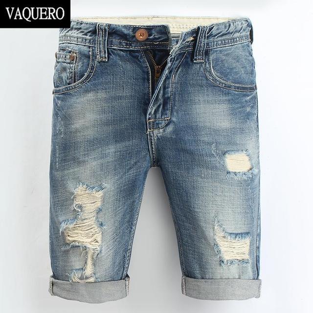 Мужские джинсовые шорты 2015 новый летом регулярно свободного покроя длиной до колен ...