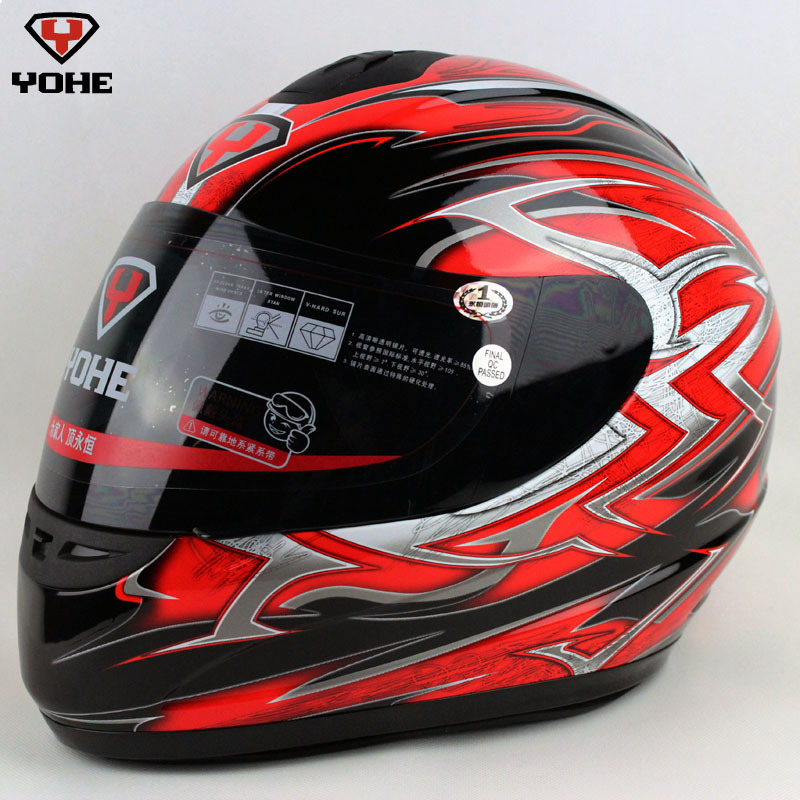 Free shipping Motorcycle helmet black and red yh-993 2 male Women<br><br>Aliexpress