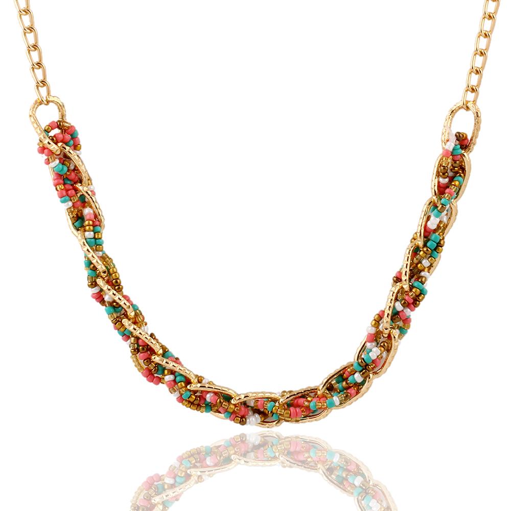 new woven 4 color bib statement beaded collar