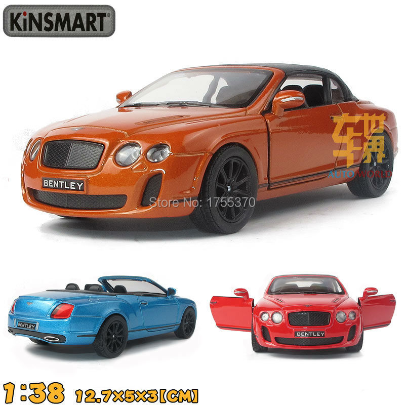 Kinsmart 2010 Bentley Continental Supersports Convertible 1:38 5Inch Diecast Steel Alloy Automobiles Toy Pull Again Automobile Present For Youngsters