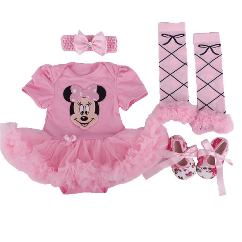2015 newborn Baby Christmas Dress 4pcs/set Infant Baby Girls Birthday Costumes Santa Clause Romper Dress+socks+Headband+shoes(China (Mainland))