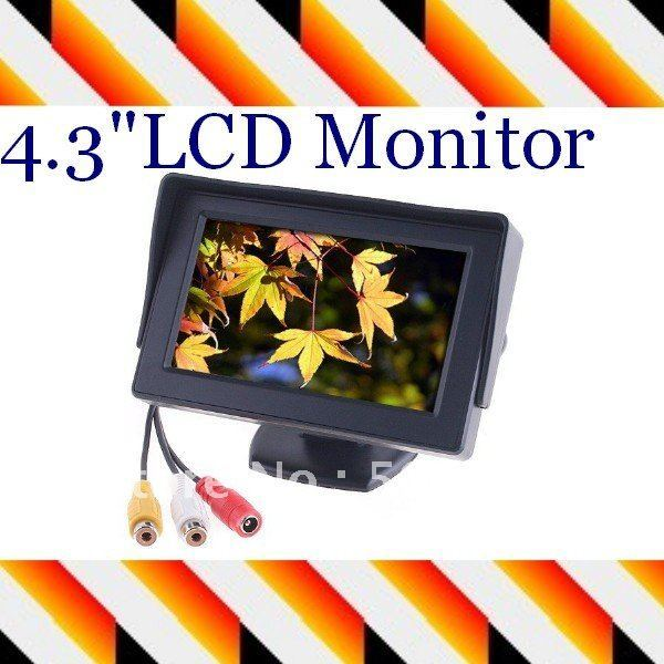 "4.3"" Dashboard Backup LCD in Car , Color TFT LCD Car Monitor reverse Rearview for Camera GPS DVD VCR"