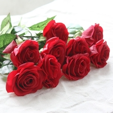 10 pcs Latex Real Touch Rose Decor Rose Artificial Flowers Silk Flowers Floral Wedding Bouquet Home Party Design Flowers(China (Mainland))