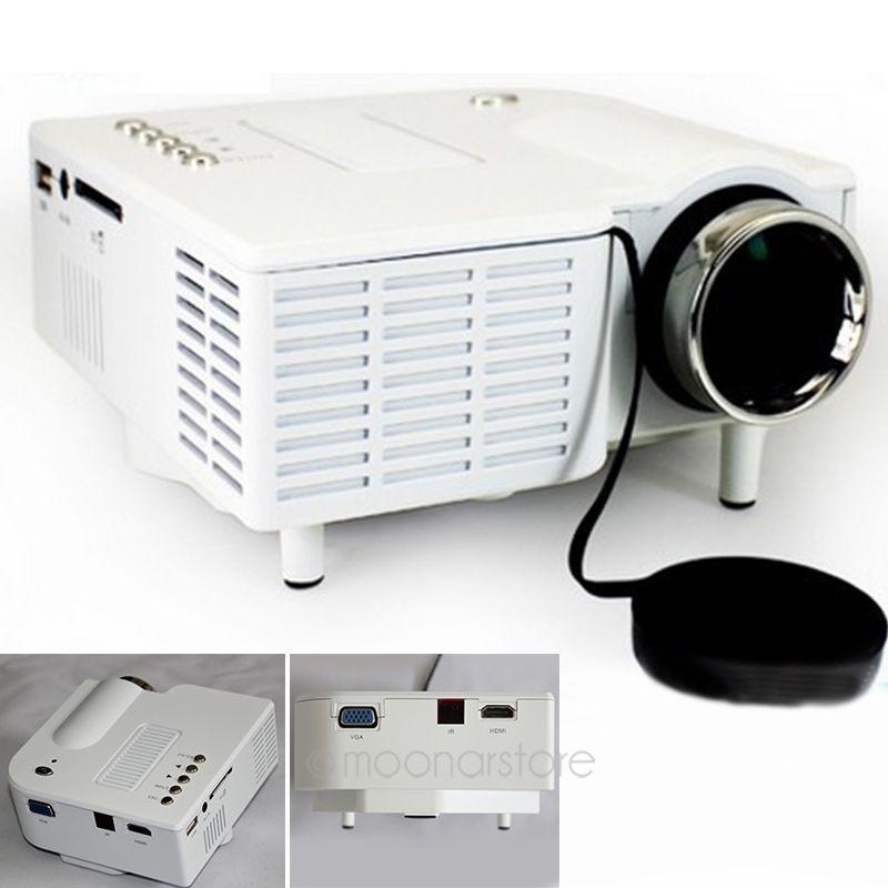 FreeDHL UC28 Mini Projector LED Portable Projector Home Theater Proyector PC&amp;Laptop VGA/USB/SD/AV/HDMI Projecteur Mini Projetor<br>