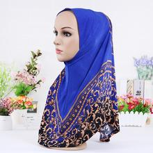 11 color Muslim hijabs hot sale pattern of printed scarf wrapped head scarf of women hijabs(China (Mainland))