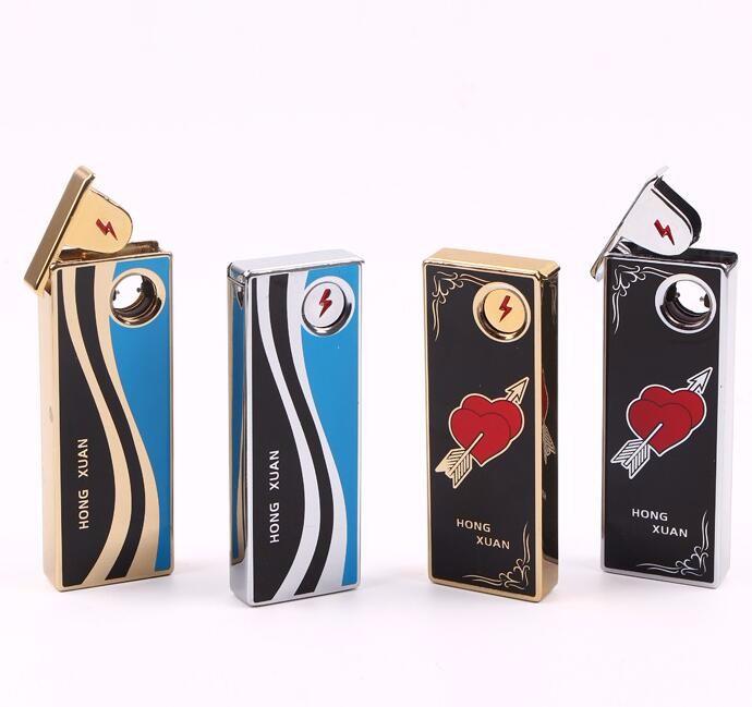 ถูก 1ชิ้นแบบพกพาบุหรี่อิเล็กทรอนิกส์USBเบาแบบชาร์จFlameless W Indproofเป็นสูบบุหรี่แกดเจ็ตisqueiroของขวัญสำหรับผู้ชาย