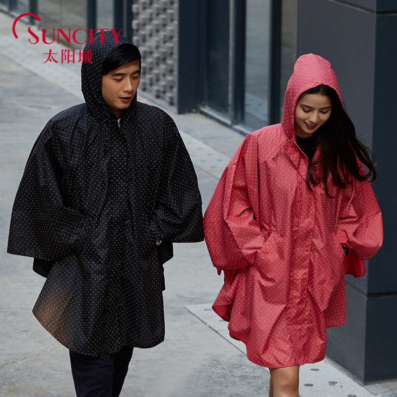 2016 Fashion WPC Red/Black/Blue Raincoat Women Men Transparent Rain Poncho Coat Jackets Female Chubasqueros Impermeables Mujer(China (Mainland))