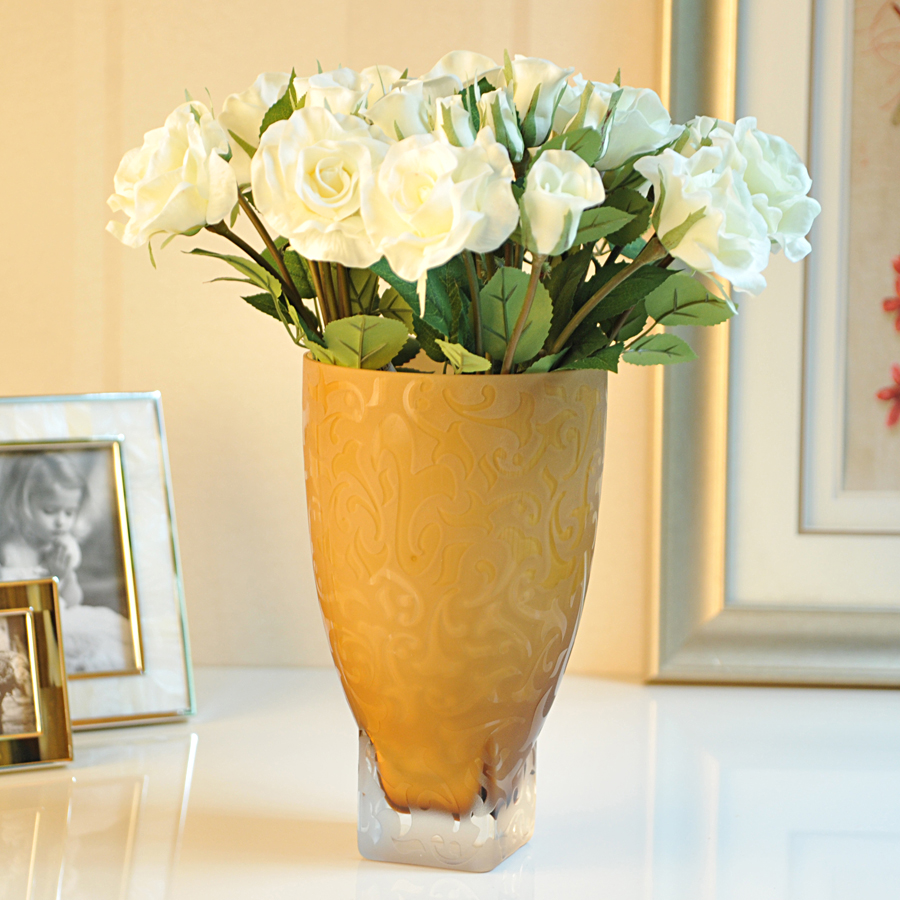 Top hot vase home decorations large vase flower glass vase for Decoration vase