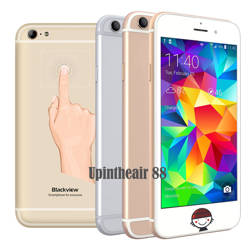 In Stock Original Blackview Ultra A6 Mobile Phone MTK6582 Quad Core 1GB RAM 8GB ROM 4.7Inch Back Touch 13.0MP CAM 2200mAh Phone(China (Mainland))