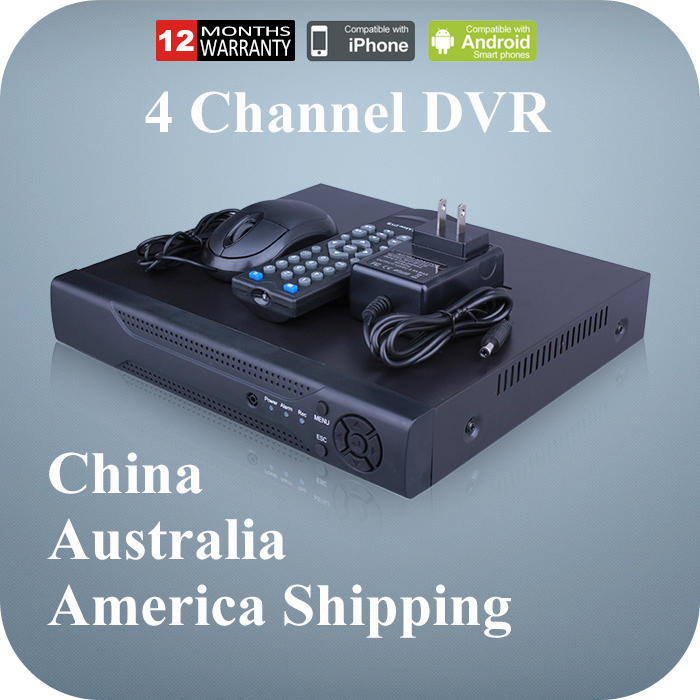 US Shipping Surveillance Video Recorder Mini CCTV DVR 4 Channel 960H H.264 Network 4CH DVR for Home Security CCTV Camera(China (Mainland))