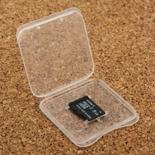 100Pcs Transparent Plastic Storage Card Box for Micro SD Card(TF Card) (The price is for 100 pcs)(China (Mainland))