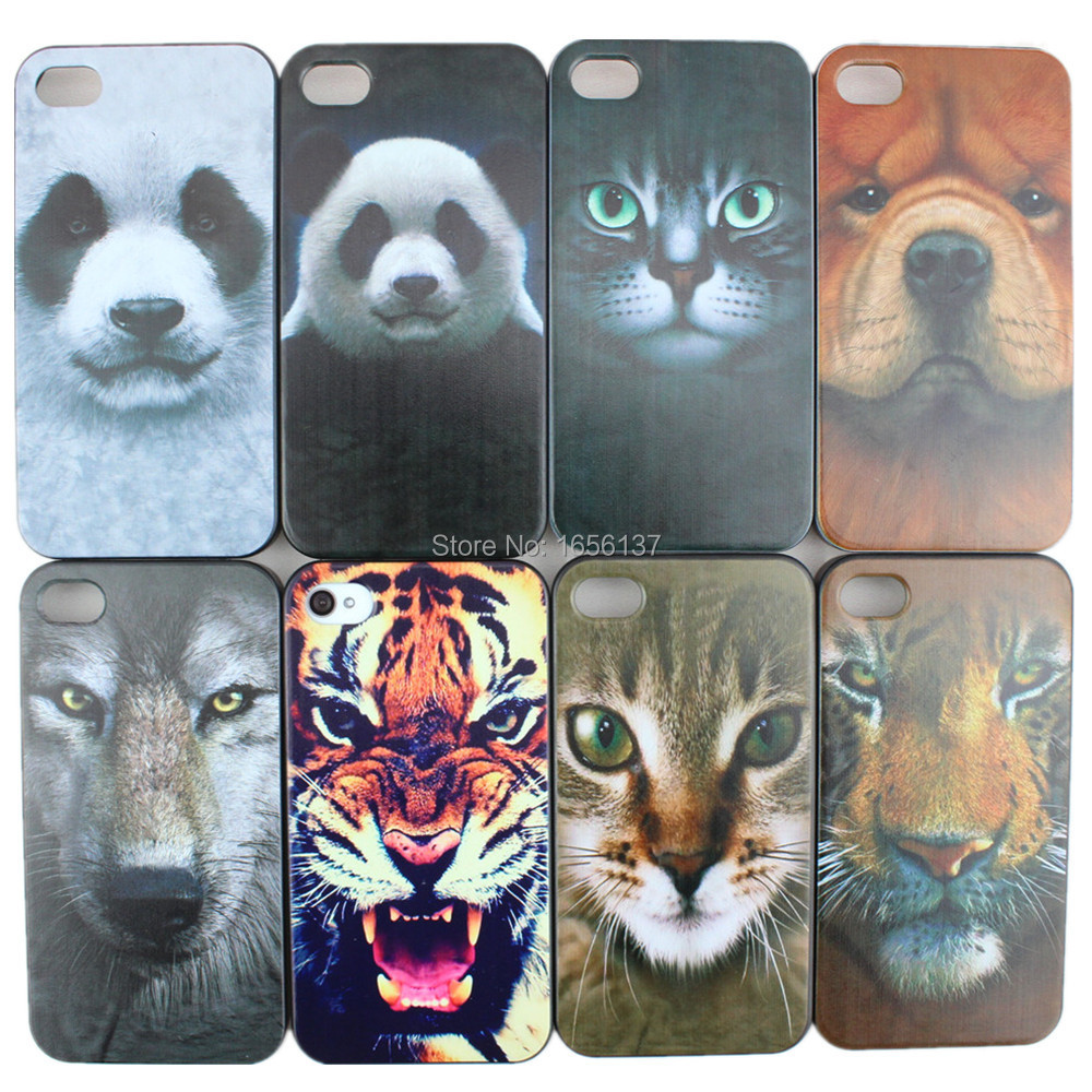 Гаджет  Horrible Tiger Animal Series Hard PC Case Cover For Apple i Phone iPhone 4 4S iPhone4 iPhone4s Fashion Items Free Shipping None Телефоны и Телекоммуникации