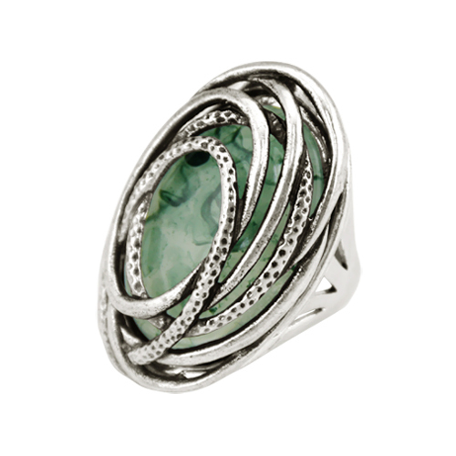 2015New Arrival Women Fashion Vintage Antique Sterling Silver Resin Statement Rings Men Steampunk Style Rings Fine Jewelry(China (Mainland))