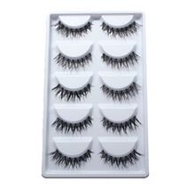 5 Pairs Beauty Makeup Mini Half Corner Black False Eyelashes Natural Eye Lashes Cosmetics(China (Mainland))