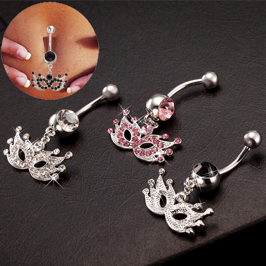 buy wholesale white gold belly button rings from