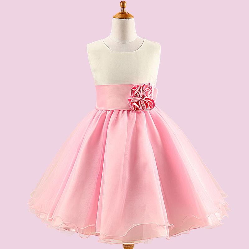 Fashion 2016 Baby Girls Clothing Big Bow Wedding Party Bridesmaid Dresses Elegant Tutu Formal Dress Summer Girls Children Dress(China (Mainland))