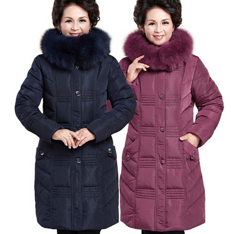 2015 Winter Jacket Women Fox Fur Hooded Down Coats Women Long Parkas Thicken Plus Size Duck Down Jacket Women Coat BL1253