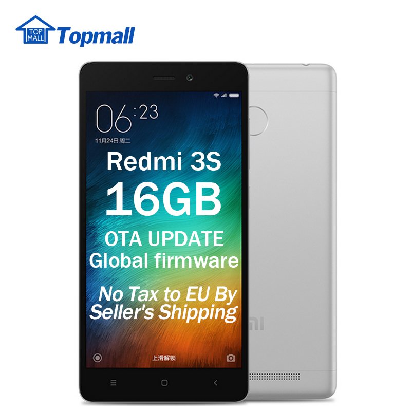 "In stock Xiaomi Redmi 3S Mobile Phone 16GB ROM Snapdragon 430 global firmware OTA update Fingerprint ID 5.0"" Metal Body(China (Mainland))"