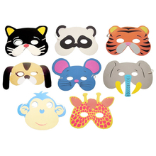 10PCS/set Birthday Party Supplies EVA Foam Cartoon Animal Masks Kids Chiildren Party Dress Up Costume Zoo Jungle Party Supplies(China (Mainland))