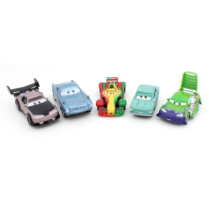 5Pcs / Set Pixar Cars 2 metal car 1:55 Zinc Alloy Toys Exquisite alloy car (using water-based paint) Free shipping(China (Mainland))