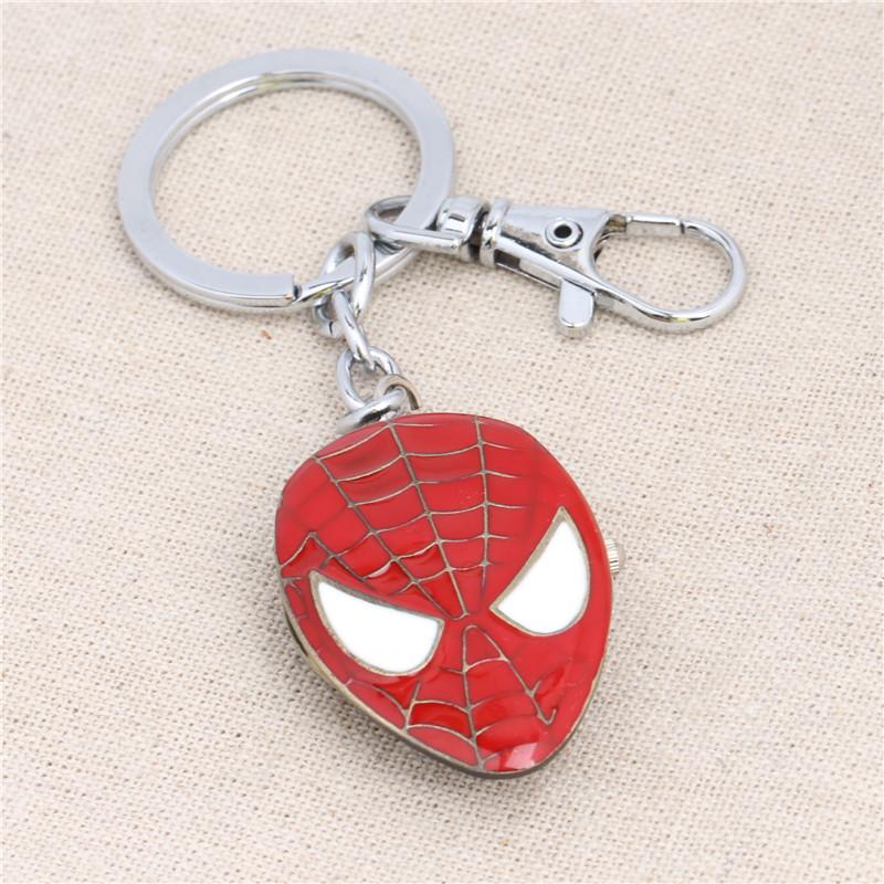 Wholesale Spider Man Marks Pocket Watch Pendant Key Chains Movies Jewelry YSK813(China (Mainland))