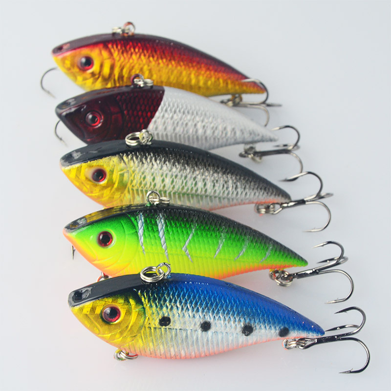Vib vibratio fishing lures 7cm ocean river lake hard for Best lures for river fishing