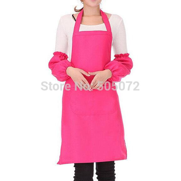 A8Free shipping!1pcs Antifouling Spun Poly Craft Restaurant Kitchen Bib Aprons With Pockets P31(China (Mainland))