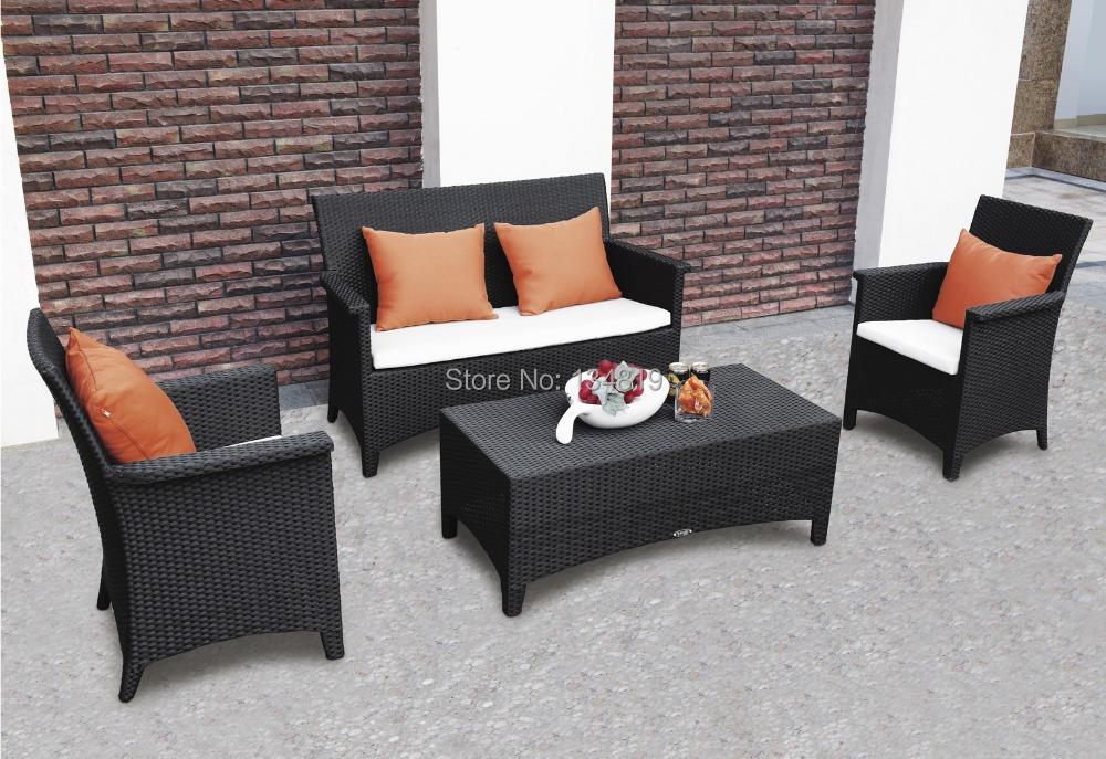 2014 Hot Sales Pe Wicker Furniture Wicker Garden Sofa Set Sf 013 In Garden Sofas From