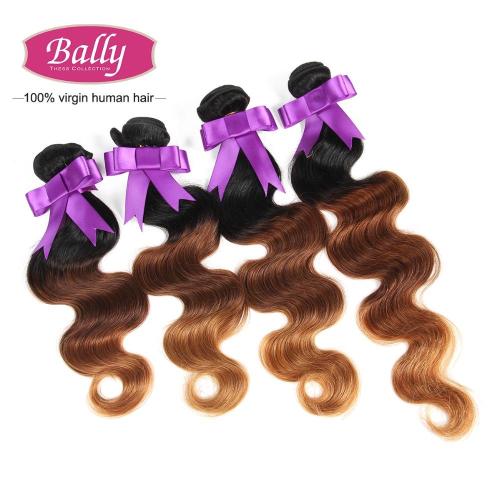 Здесь можно купить  3 Tone Ombre Hair Extension Brazilian Virgin Hair Body Wave Wavy Unprocessed Brazilian Body Wave 3 Bundle Cheap Human Hair Weave  Волосы и аксессуары