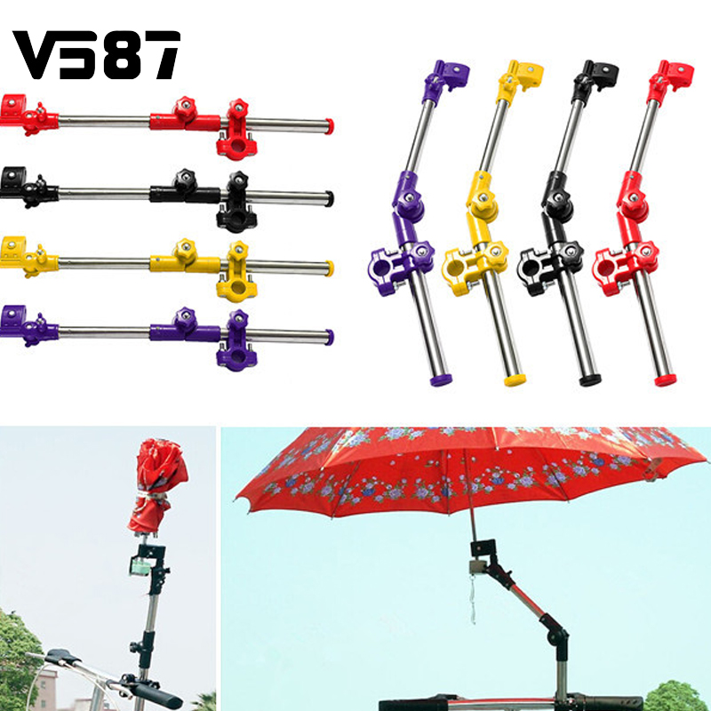 Wholesale New Bike Wheelchair Stroller Chair Umbrella Holder Connector Stand Supporter Stainless Steel Multiused Stands(China (Mainland))