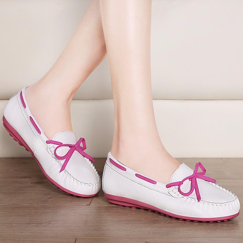 ซื้อ รองเท้าผู้หญิงMOOLECOLE 2016แฟชั่นใหม่ผู้หญิงรองเท้าวัวแยกหนังลื่นกับผู้หญิงรองเท้า6q306-3