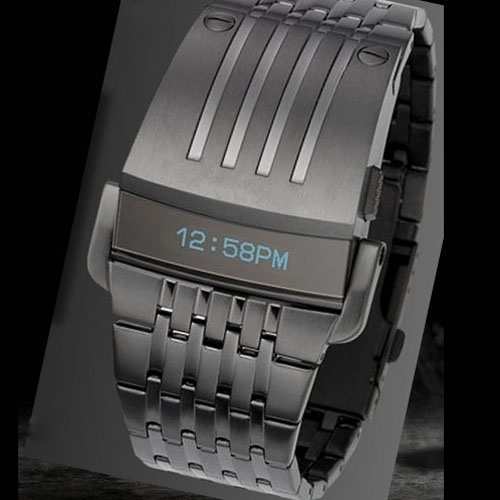 New Fashion Digital Men Full Steel Led Watch ,Sport Watches Men Military Watches Metal LED Faceless Bracelet Watch Wristwatch(China (Mainland))