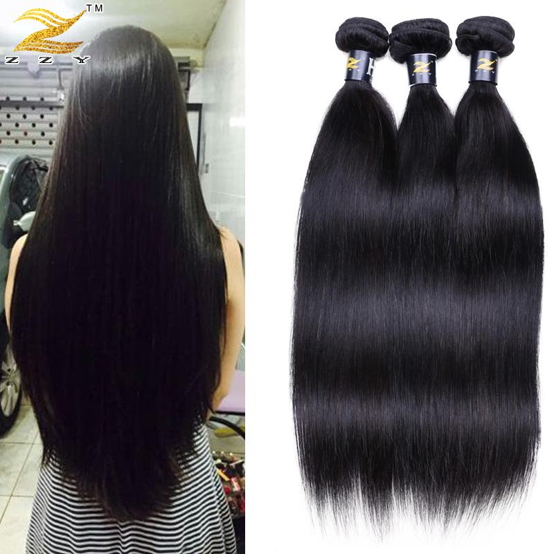 Malaysian Virgin Hair Straight Top Quality Malaysian 3 Bundles Virgin Hair 100 Human Rosa Products Hair Weave Bundes(China (Mainland))