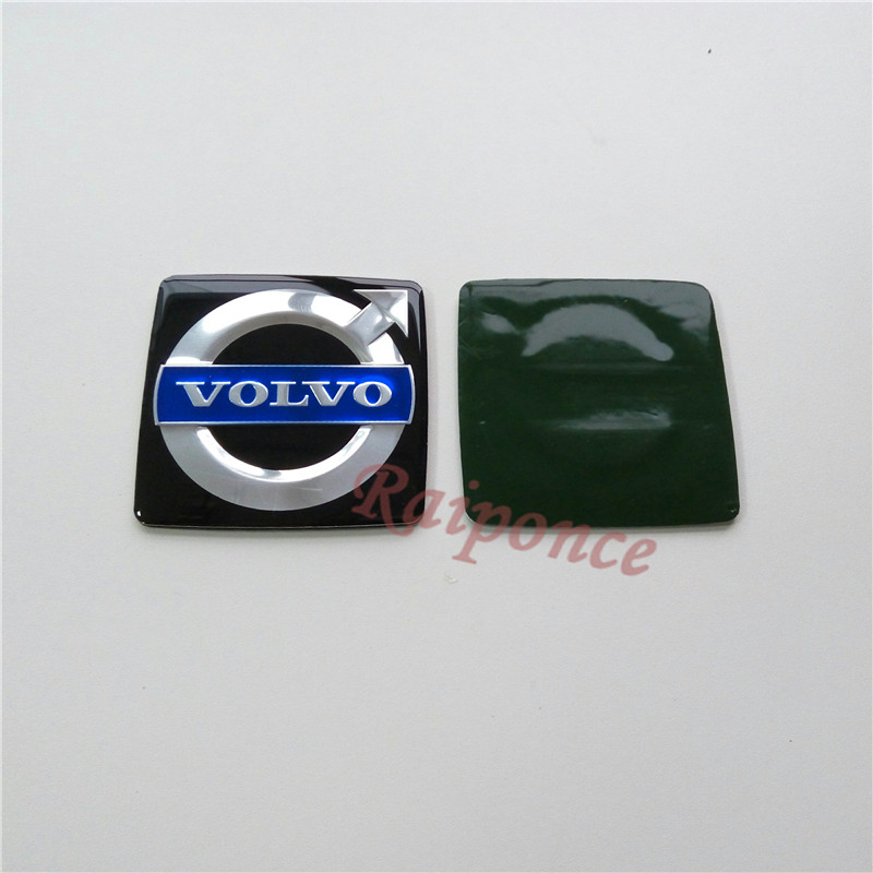 For Volvo 73mm Emblem High Quality Black Alloy Sticker Auto Hood Badge Car Styling Sign Mark Accessories(China (Mainland))