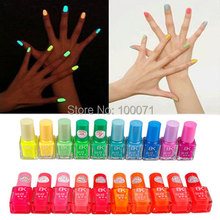 Fashion Special Hot Sale 5X Fluorescent Luminous Neon Glow In Dark Varnish Nail Art Polish Enamel 20 Colors HITM #26037(China (Mainland))