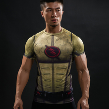 Buy Cosplay Costume Reverse Flash 3D Printed T-shirts Men Raglan Short Sleeve Superhero Compression Shirt Fitness Clothing Tops Male for $5.91 in AliExpress store