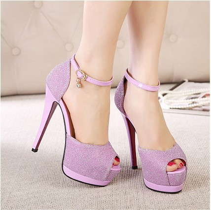 Ultra high heels sandals female summer princess platform thin open toe high-heeled shoes fashion hasp
